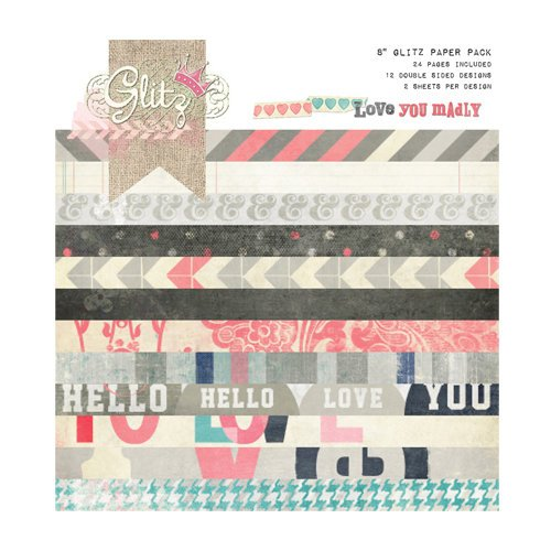 Glitz Design - Love You Madly Collection - 8 x 8 Paper Pad
