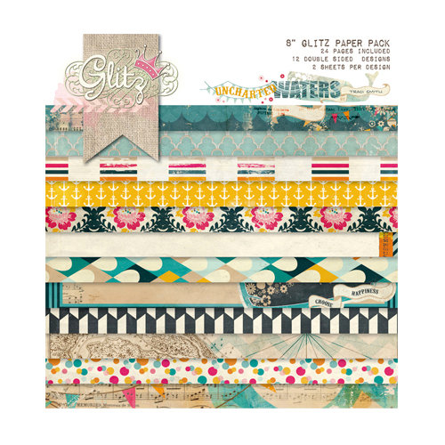 Glitz Design - Uncharted Waters Collection - 8 x 8 Paper Pad