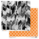 Glitz Design - Raven Collection - Halloween - 12 x 12 Double Sided Paper - Grey