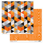 Glitz Design - Raven Collection - Halloween - 12 x 12 Double Sided Paper - Triangles