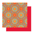 Glitz Design - Rhapsody Collection - 12x12 Double Sided Paper - Rhapsody Stained Glass, CLEARANCE