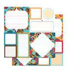 Glitz Designs - Rhapsody Collection - 12x12 Double Sided Paper - Rhapsody Journaling, CLEARANCE