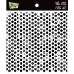 Glitz Design - Rub Ons - Distressed Polka Dot - Black, CLEARANCE