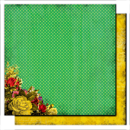 Glitz Design - Scarlett Collection - 12 x 12 Double Sided Paper - Polka, CLEARANCE