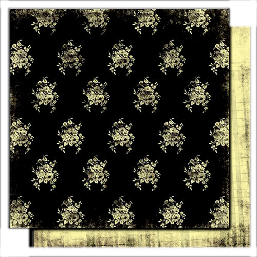 Glitz Design - Scarlett Collection - 12 x 12 Double Sided Paper - Bouquet, CLEARANCE