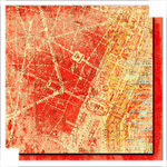 Glitz Design - Scarlett Collection - 12 x 12 Double Sided Paper - Map, CLEARANCE
