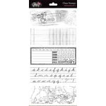 Glitz Design - Clear Acrylic Stamps - Distressing Set 3, BRAND NEW