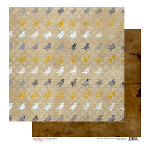 Glitz Design - Sunshine in My Soul Collection - 12 x 12 Double Sided Paper - Birds