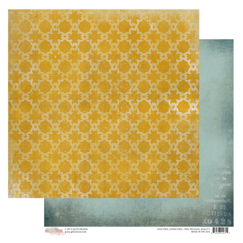 Glitz Design - Sunshine in My Soul Collection - 12 x 12 Double Sided Paper - Suns