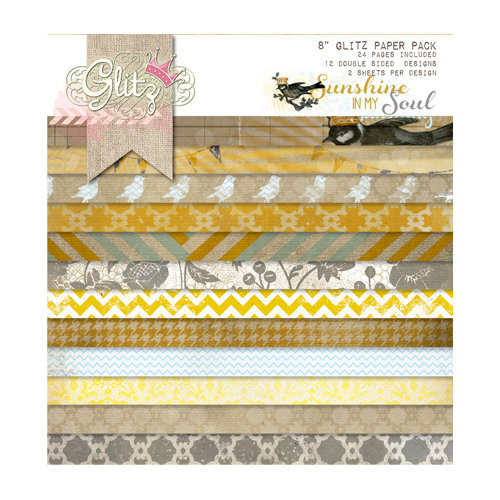 Glitz Design - Sunshine in My Soul Collection - 8 x 8 Paper Pad