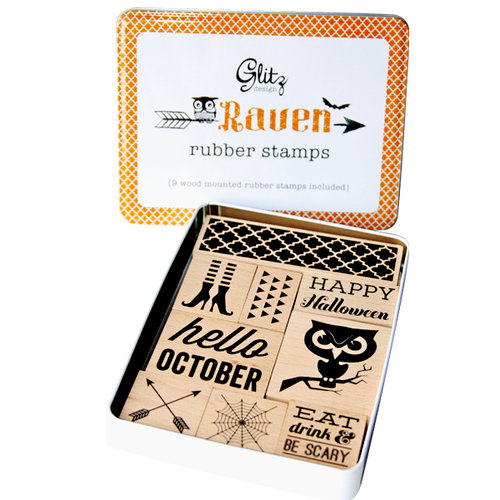 Glitz Design - Raven Collection - Halloween - Rubber Stamps