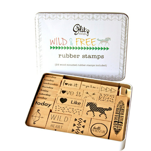 Glitz Design - Wild and Free Collection - Rubber Stamps