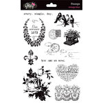 Glitz Design - Vintage Blue Collection - Clear Acrylic Stamps