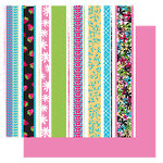 Glitz Design - Sublime Collection - 12x12 Double Sided Paper - Sublime Wacky Stripe