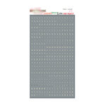 Glitz Design - Love You Madly Collection - Cardstock Stickers - Teeny Alphabet - Grey