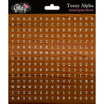 Glitz Design - Laced with Grace Collection - Cardstock Stickers - Teeny Alphabet - Wood Grain