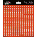 Glitz Design - Love Games Collection - Cardstock Stickers - Teeny Alphabet - Burnt Orange
