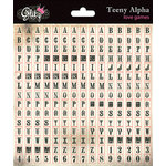 Glitz Design - Love Games Collection - Cardstock Stickers - Teeny Alphabet - Cream Grunge