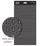 Glitz Design - French Kiss Collection - Cardstock Stickers - Teeny Alphabet - Charcoal