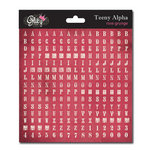Glitz Design - Cardstock Stickers - Teeny Alphabet - Rose Grunge