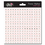 Glitz Design - Cardstock Stickers - Teeny Alphabet - White Type