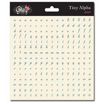 Glitz Design - Cardstock Stickers - Teeny Alphabet - Pearl