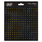 Glitz Design - Cardstock Stickers - Teeny Alphabet - Black