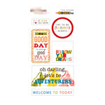 Glitz Design - Color Me Happy Collection - Cardstock Stickers - Titles