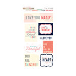 Glitz Design - Love You Madly Collection - Cardstock Stickers - Titles