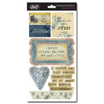 Glitz Design - Vintage Blue Collection - Cardstock Stickers - Titles