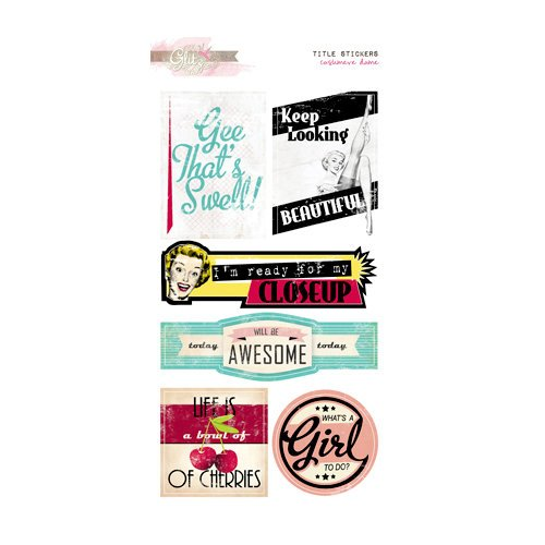 Glitz Design - Cashmere Dame Collection - Cardstock Stickers - Titles