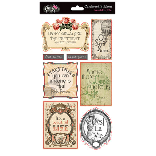 Glitz Design - French Kiss Collection - Cardstock Stickers - Titles