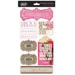 Glitz Design - Pretty in Pink Collection - Cardstock Stickers - Titles