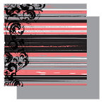 Glitz Designs - Urban Collection - 12x12 Double Sided Paper - Urban Stripe