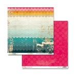 Glitz Design - Unchartered Waters Collection - 12 x 12 Double Sided Paper - WavesÂ