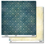 Glitz Design - Vintage Blue Collection - 12 x 12 Double Sided Paper - Motif