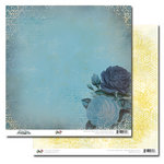 Glitz Design - Vintage Blue Collection - 12 x 12 Double Sided Paper - Rose