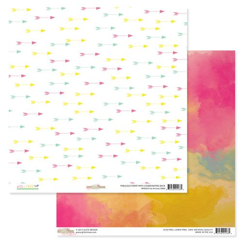 Glitz Design - Wild and Free Collection - 12 x 12 Double Sided Paper - Arrows