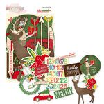 Glitz Design - Hello December Collection - Christmas - Cardstock Pieces - Whatnots