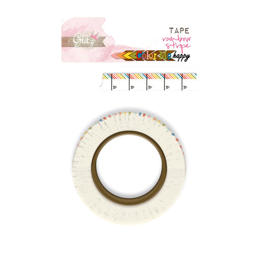 Glitz Design - Color Me Happy Collection - Washi Tape - Rainbow Stripe
