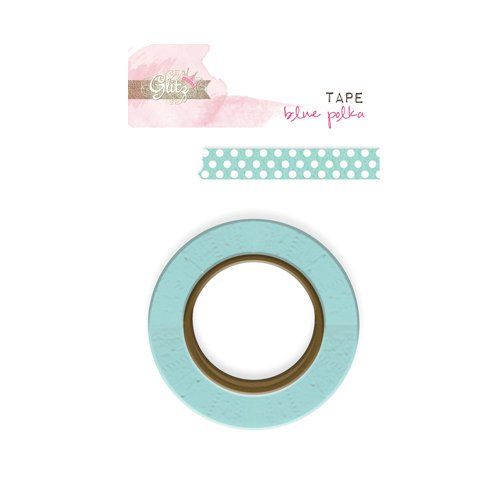 Glitz Design - Cashmere Dame Collection - Washi Tape - Blue Polka