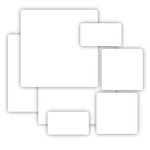 Grafix - Medium Weight Chipboard - White - Assorted Sizes