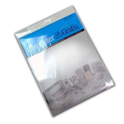 Grafix - Ink Jet Film - Adhesive Backed - Clear - 8.5x11
