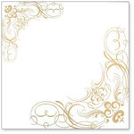 Hambly Studios - Overlay Transparancy - Screen Prints - Corner Flourishes - Metallic Gold, CLEARANCE