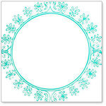 Hambly Studios - Overlay Transparancy - Screen Prints - Big Vintage Circle - Teal Blue