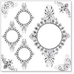 Hambly Studios - Overlay Transparancy - Screen Prints - Vintage Circle Frames - Black