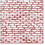Hambly Studios - Screen Prints - 12x12 Overlay - Brick Wall - Burgundy Red