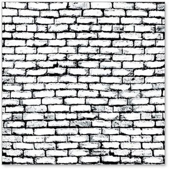 Hambly Studios - Screen Prints - 12x12 Overlay - Brick Wall - Black