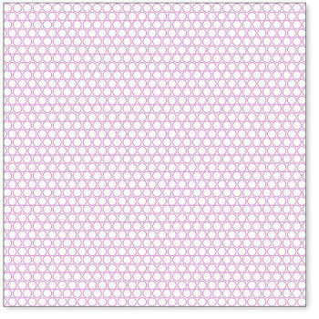 Hambly Studios - Screen Prints - 12 x 12 Overlay Transparency - Little Circles - Magenta, CLEARANCE
