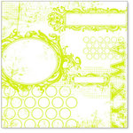 Hambly Studios - Screen Prints - 12 x 12 Overlay Transparency - All Mixed Up - Lime Green, CLEARANCE